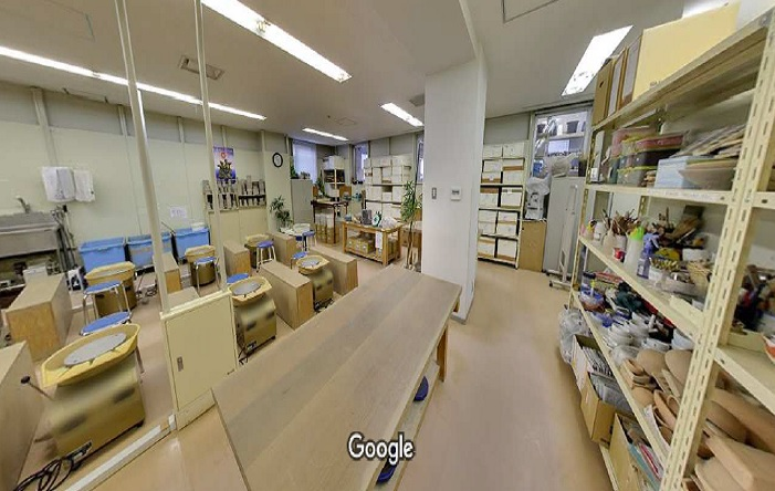 Googleストリートビュー シンポ陶芸アカデミー