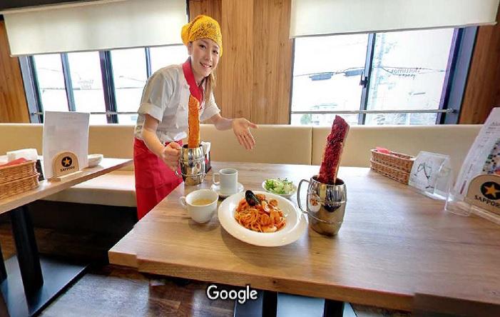 Googleストリートビュー モッチモパスタ京都桂店