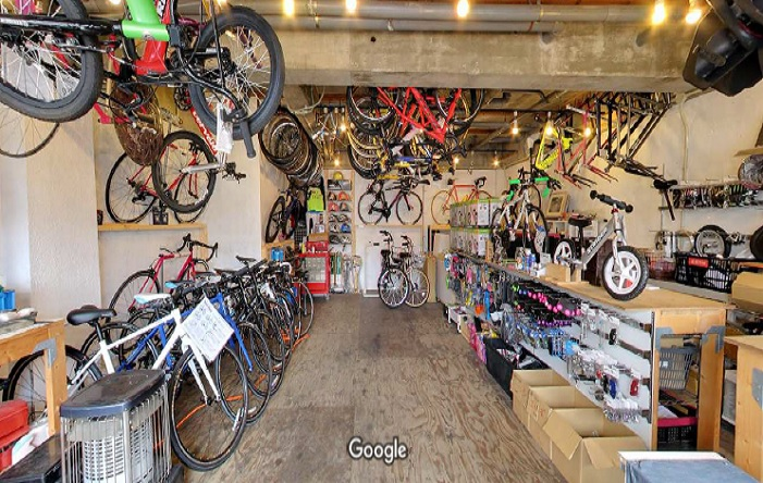Googleストリートビュー 自転車屋ビッちゃん 生駒店
