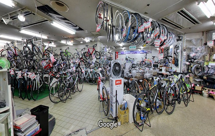 Googleストリートビュー サイクルショップカンザキエバーレ店