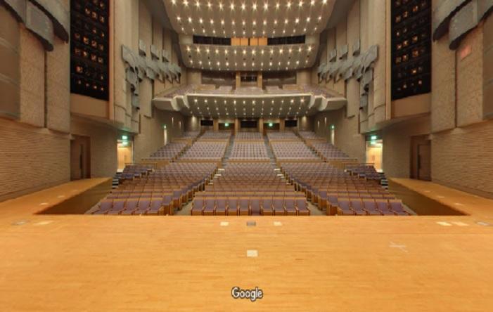 Googleストリートビュー 泉佐野市立文化会館(大ホール)