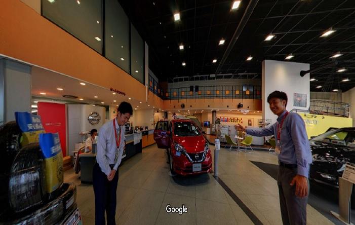 Googleストリートビュー 日産プリンス滋賀販売(株)栗東支店
