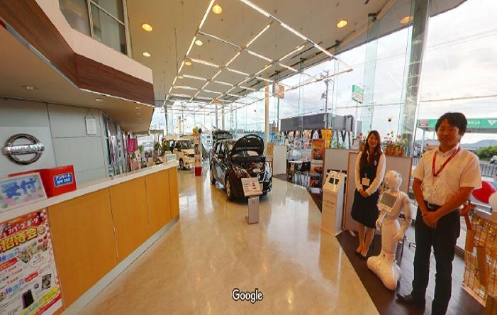 Googleストリートビュー 日産プリンス滋賀販売(株)水口店