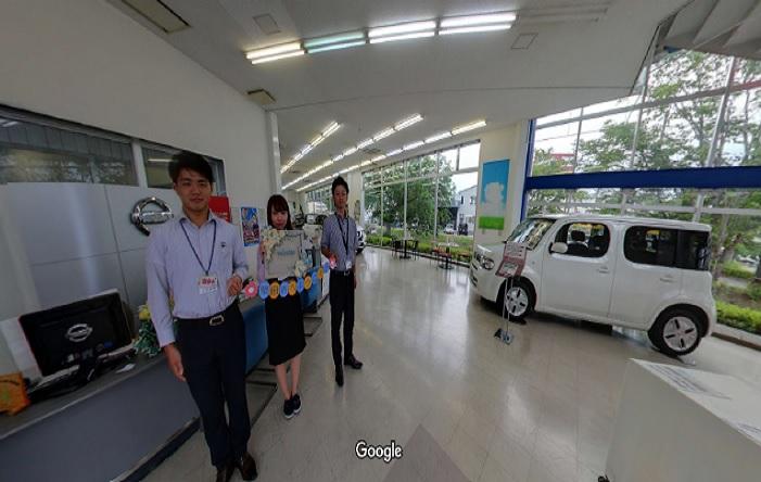Googleストリートビュー 日産プリンス滋賀販売(株)堅田店
