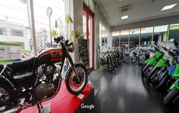 Googleストリートビュー (株)八尾カワサキ 東大阪店