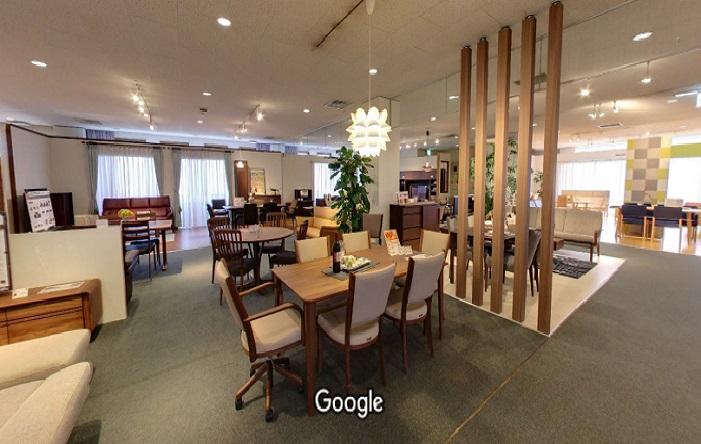 Googleストリートビュー カリモク家具大津ショールーム