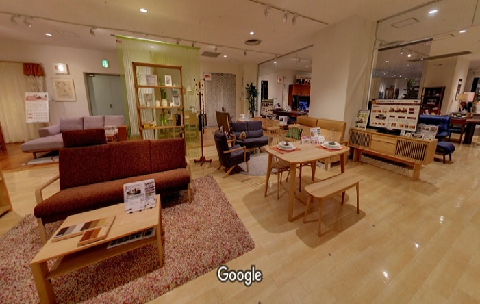 Googleストリートビュー カリモク家具神戸ショールーム