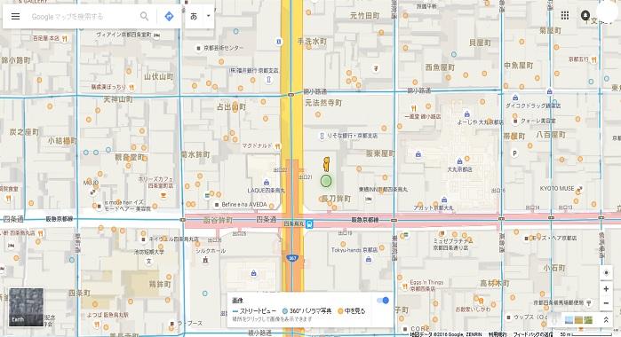 ストリートビュー 分布図