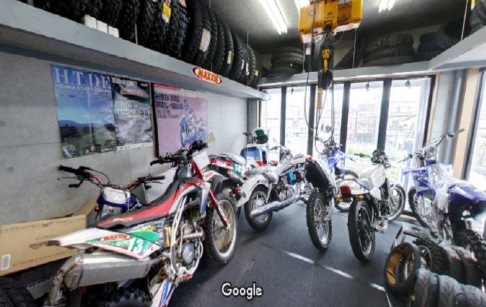 Googleストリートビュー モーターサイクルショップニュートン