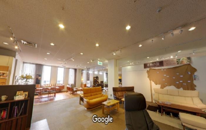 Googleストリートビュー カリモク家具関西ショールーム